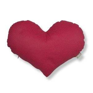 Szív alakú gyógynövényes alvó/pihenőpárna 10 féle gyógynövénnyel